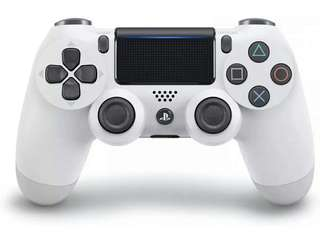 New Dual Shock PS4 Wireless Controller with Light Bar - Glacier White