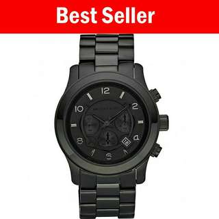 Authentic MK blacked out run away men's watch