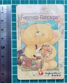 電話卡(Forever Friend 圖案)變黃及花了