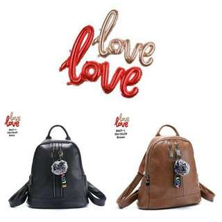 Fashion backpack love 8607-1
