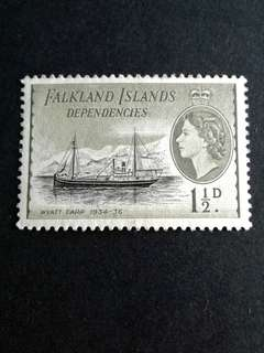 Falkland islands 1.1/2d stamps