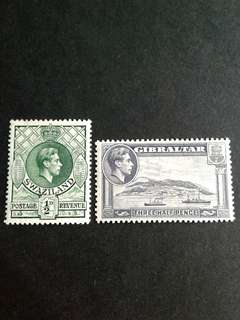 British colonies KG stamps