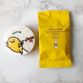 🚚 Holika Holika x Gudetama Face 2 Change Photo Ready Cushion BB SPF50 PA++