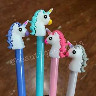 12 pcs. Unicorn friction pens