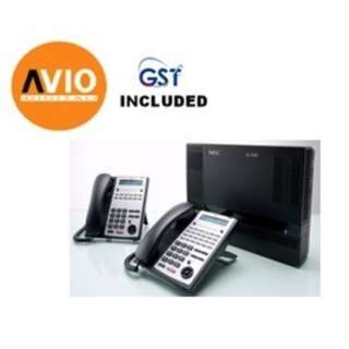 NEC SL1000 PKG C PABX Keyphone System 8CO 24 Extensions 2 + 12