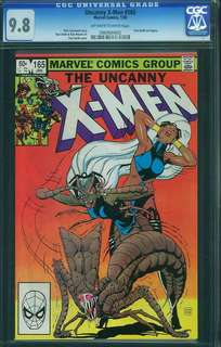Uncanny X-Men #165 Vintage Marvel CGC Comics 1983