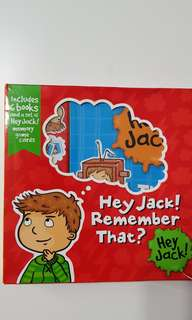 Hey Jack set of 6 books and memory game cards