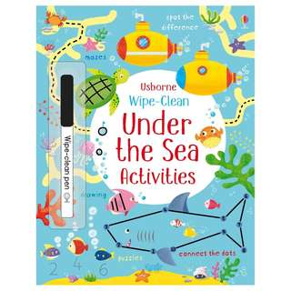 (Brand New) Wipe-Clean :  Under the Sea Activities     By: Kirsteen Robson, Manuela Berti (Illustrator)   Paperback    For Ages: 3+ years old