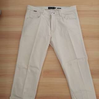 Massimo Dutti Cream Colored Jeans Cut Pants
