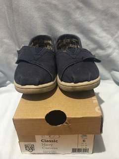TOMS Toddler Blue Canvas T6