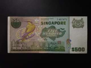 $500 Bird series Paper banknote