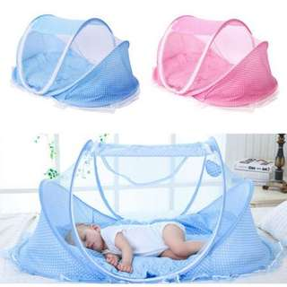 FOLDABLE INFANT BABY BED MOSQUITO NET