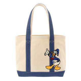 日本 Disney Store 直送 Donald Duck 唐老鴨刺繡手挽袋 / 側揹袋