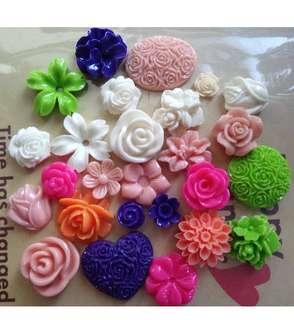 0.7cm - 2cm mix colour flowers (DIY/HP cover)
