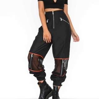 I.AM.GIA Gwen pants orange and black size XS