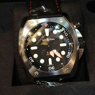 Bell & Ross 1000M Diver 45mm BR02-BL-PRO/SRU Full Set