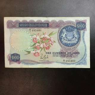 Singapore $100 Orchid Series Note A/1 Lks