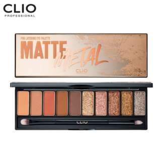 Clio Pro Layering Eye Palette Matte × Metal