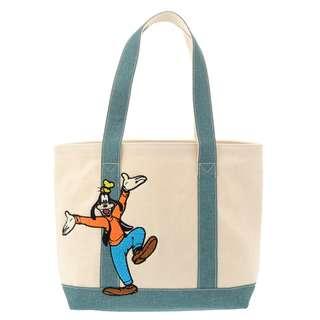 日本 Disney Store 直送 Goofy 高飛刺繡手挽袋 / 側揹袋