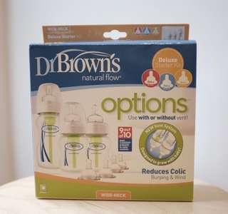 Dr Brown's Anti-colic wide neck starter kit bottles
