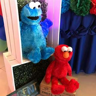 Cookie Monster & Elmo stuffed toy
