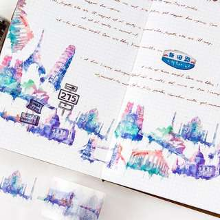 (PO) Cities and Other Things Washi Tape