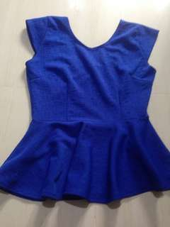 Preloved royal blue top