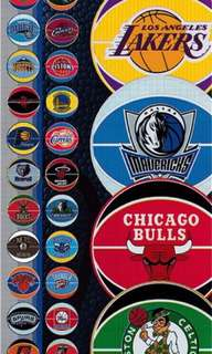 NBA Prismatic Logo Stickers Complete Set of 30