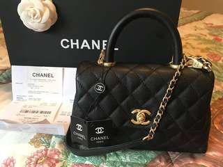 👜💐 CHANEL - CoCo Handle Mini Calfskin GHW - NWT + Receipt 💐👜