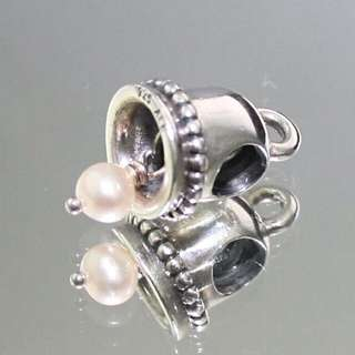 Authentic PANDORA Bell & Pearl Charm