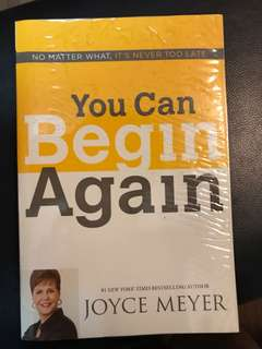"""You Can Begin Again"" (Christian Book)"