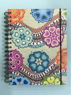 BN hardcover notebook with elastic fastener