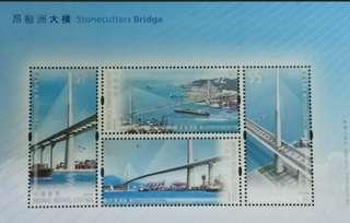 昂船洲大橋郵票小全張