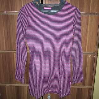 chicgirl sweatshirt stripe pink black