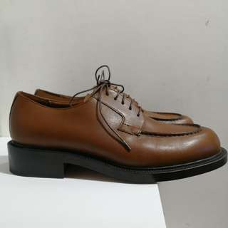 Authentic Gucci Brown Leather Lace Up Shoes for Men (Size 41 1/2)