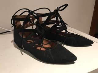 Witter Black lace up flats - 37