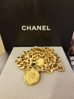 Chanel gold vintage belt