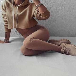 cropped top hoodie sweatshirt pullover