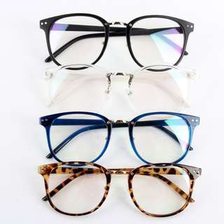 fake spectacles transparent white leopard print