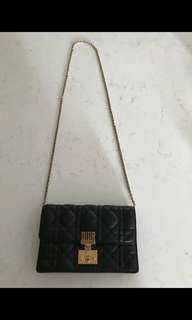 Dior Dioraddict Flap Bag in Black Cannage Lambskin.