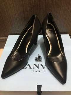 LANVIN Lambskin black heels