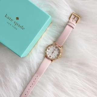 Kate Spade New York Metro Nude Pink Crystal Bezel Watch