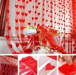 Curtain with heart