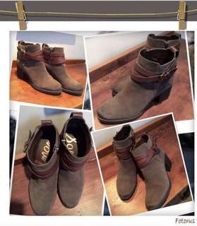 """⭐️REDUCED PRICE!!Brand New and unused Sam Edelman """"Hannah""""charcoal grey and brown belted booties in  size 7 1/2"""