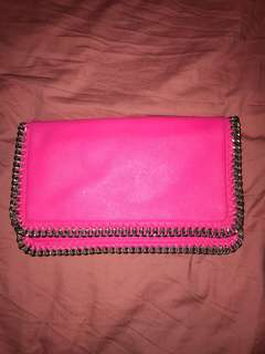 Witchery large bright pink clutch
