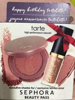 Tarte blusher and lip paint