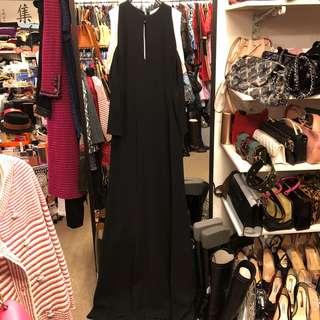 Celine black long dress size 36