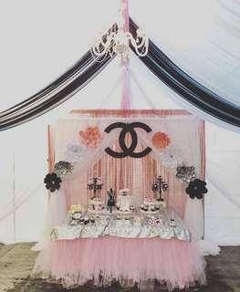 21st birthday Chanel theme