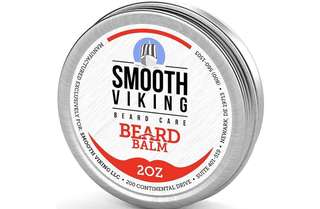 [IN-STOCK] Smooth Viking Beard Care Beard Balm with Leave-in Beard Conditioner - Styles , Strengthens & Thickens for Healthier Beard Growth , while Argan Oil and Wax Boost Shine and Maintain Hold - 2 oz Smooth Viking