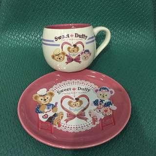 日本帶回達菲雪莉玫杯盤